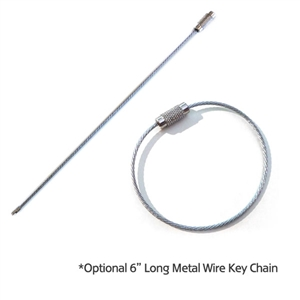 "6"" METAL WIRE KEY CHAIN"