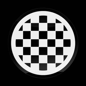 Magnetic Car Grille 3D Acrylic Badge-MINI Checker White