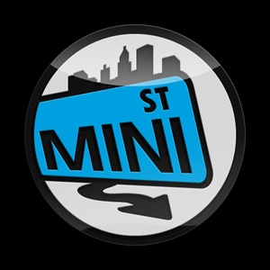 Magnetic Car Grille 3D Acrylic Badge-MINI St Blue