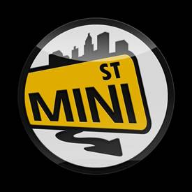 Magnetic Car Grille 3D Acrylic Badge-MINI St Yellow