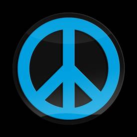 Magnetic Car Grille 3D Acrylic Badge-Peace Blue