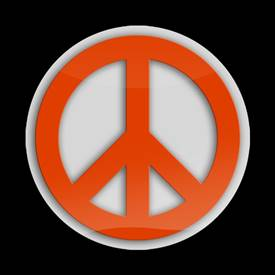Magnetic Car Grille 3D Acrylic Badge-Peace Orange