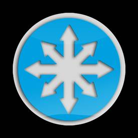 Magnetic Car Grille 3D Acrylic Badge-Snow Flake