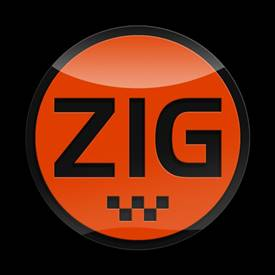 Magnetic Car Grille 3D Acrylic Badge-Zig Orange