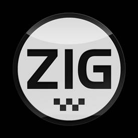 Magnetic Car Grille 3D Acrylic Badge-Zig White