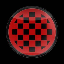 Magnetic Car Grille 3D Acrylic Badge-MINI Checker Red