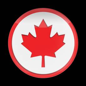 Magnetic Car Grille 3D Acrylic Badge-Flag Canada