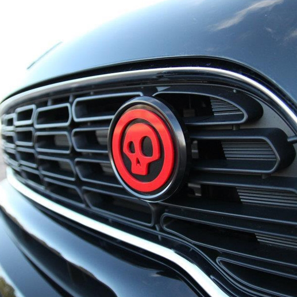 Magnetic Black Grill Badge Holder