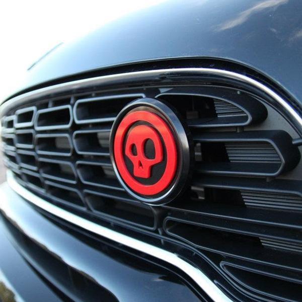 magnetic black grill badge holder