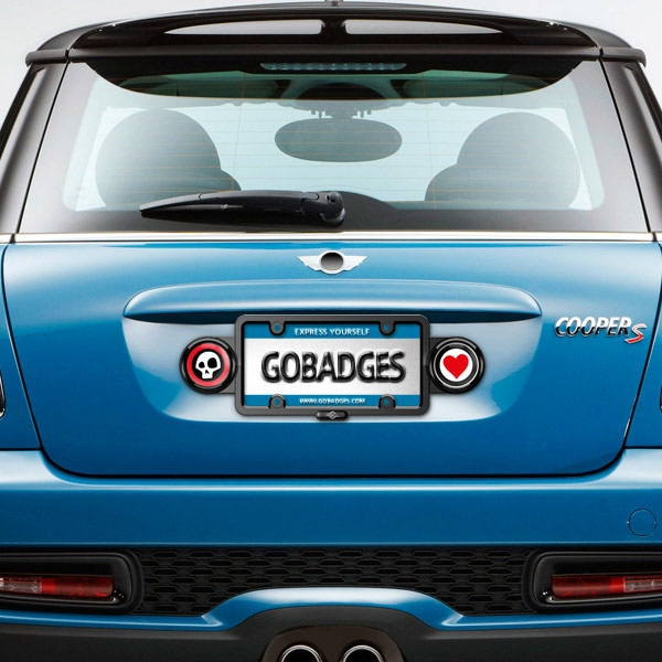 magnetic license plate badge holder - Mini Cooper License Plate Frame