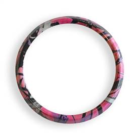Magnetic Grill Badge Holder Trim Ring Pink Camo
