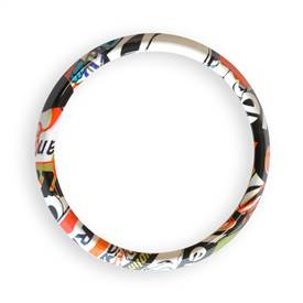Magnetic Grill Badge Holder Trim Ring Graffiti