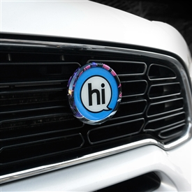 magnetic chrome grill badge holder mounting kit