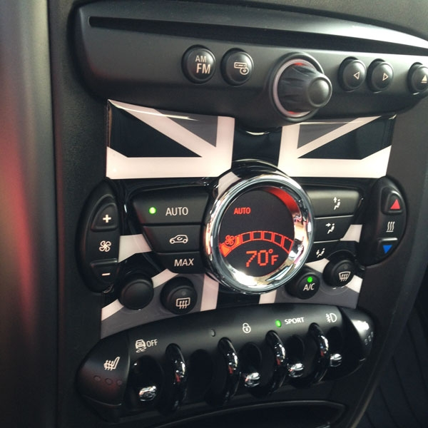Mini Cooper R56 R57 R58 R59 R60 R61 Radio Badge In Unionjack