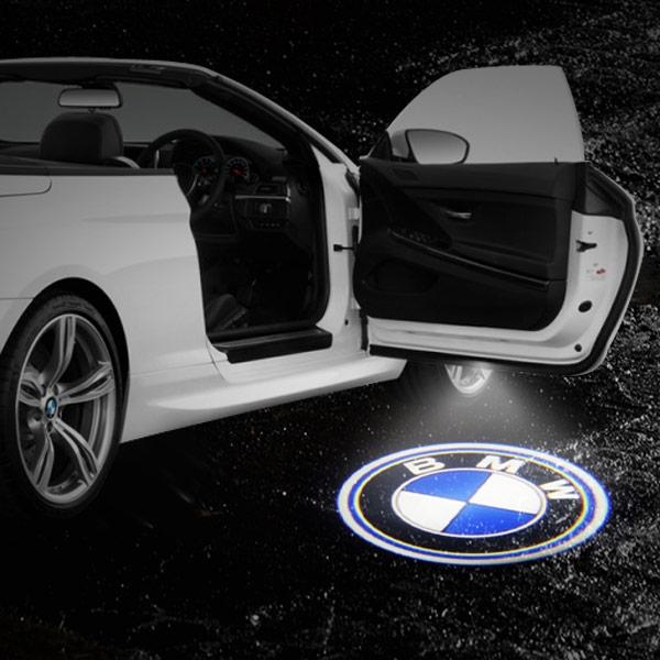 & BMW LED Door Projection Courtesy Puddle Light Pezcame.Com